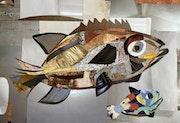 Un poisson et son petit. Cécillia Roy
