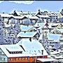 Small Winter Village. C. J. Schmidt - Digital Art