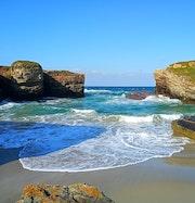 Playa en Ribadeo, Lugo. M. Pilar