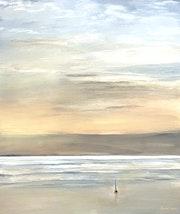 «Nuage de sable du Sahara sur le lac». Fardel