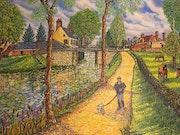Promenade au bord du canal. Gérard Laraize