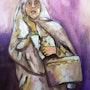 Woman in veil. Dar El Amen Galerie d'art