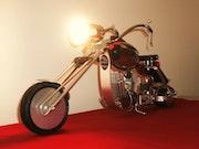 <<Chopper star >>avec éclairage. Artsolite Créations
