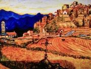 En Corse village de San t'Antonino en Balagne. Gérard Laraize