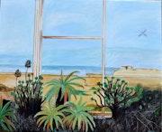 Paysage avec palmier.