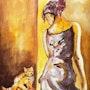 The cat. Dar El Amen Galerie d'art