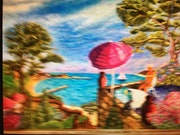 Vue sur la plage de bandol. Gérard Laraize