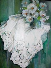 La nappe brodée. Edith Driffort