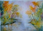 Couleur d automne prés du lac. Annie Siber