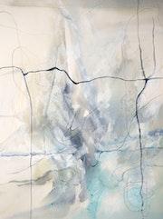 Peinture-Abstraction-Aquarelle «Déliance».