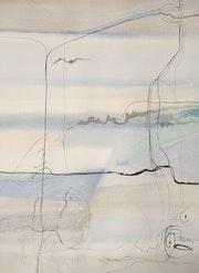 Peinture-Abstraction-Aquarelle «Reliance». Annick Richard-Keller