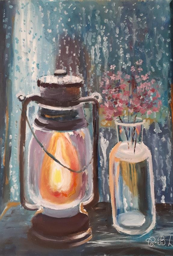 On a clear fire, my joy. Lyudmila Tomchuk-Beregova Artberegova