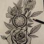 Une pendule avec les roses. Souaky