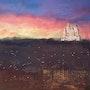 Fourvière, Lumière, ville dans le brouillard. Krystel