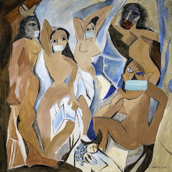 Picasso 19 - Based on Picasso's Les Demoiselles d'Avignon. Sam Schwartz Sam Schwartz