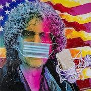 Howard stern 19 - The king of all media, custom acrylic painting.. Sam Schwartz