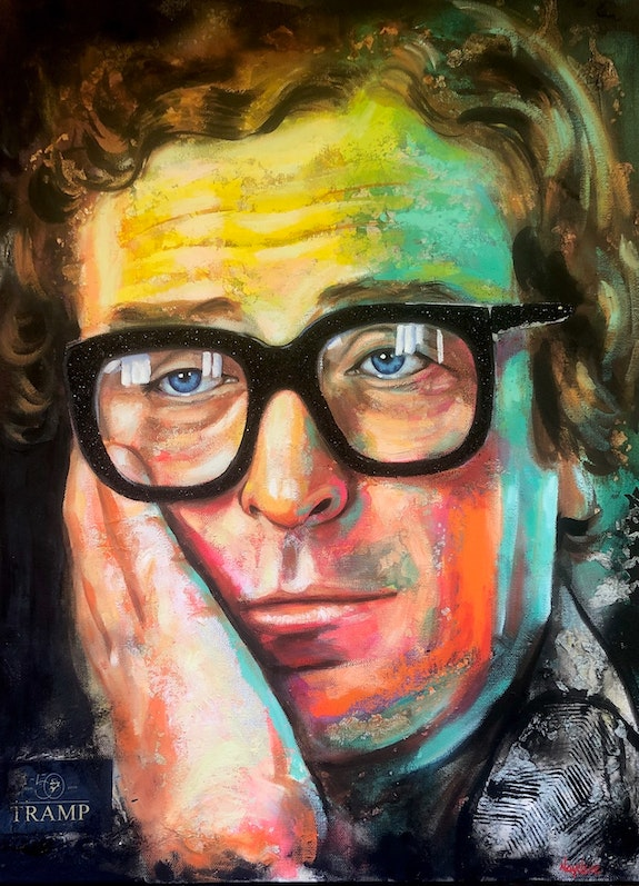 Michael Caine by Naydene Gonnella. Naydene Gonnella Art At The Ridge (Antigua & Barbuda)