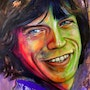 Mick Jagger by Naydene Gonnella. Art At The Ridge (Antigua & Barbuda)