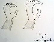 Avoir deux mains gauches. Edeudeu