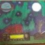 Luna, Saturno, y la Aurora Boreal.. Osvaldo Armendáriz