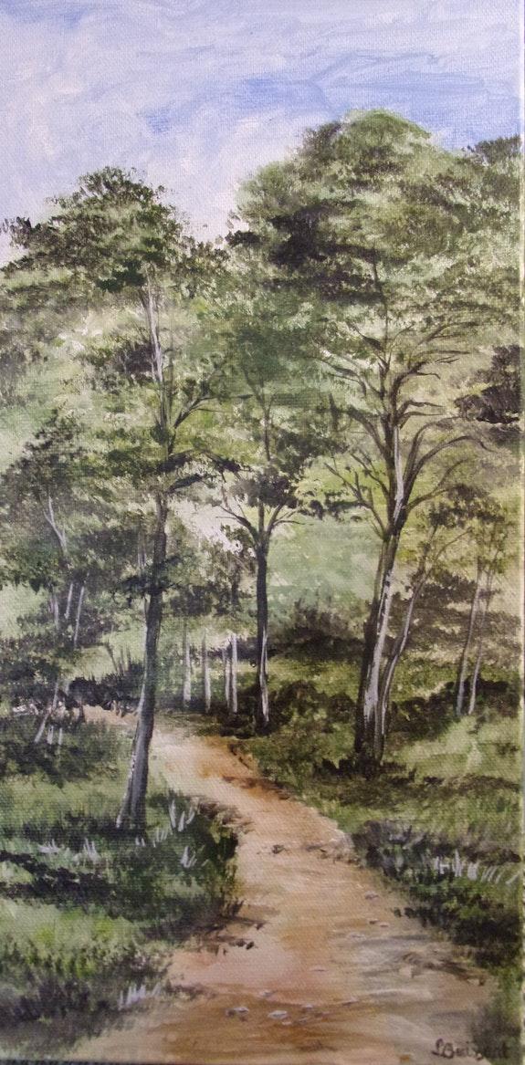 Chemin dans la pinède. Lise Buissart Lise Buissart