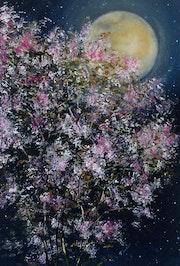 The cherry blossom tree. James Lancaster