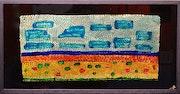 - Les Causses - 50x70 - peinture sur verre inversé.