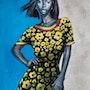Sisay Teshome, Flower girl, 2020. Transafrik Art Galerie