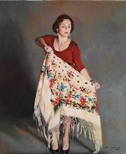 Woman with shawl. Reda Samy