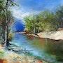 Reflets sur la rivière. Anne Marie