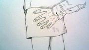 Main aux fesses. Edeudeu