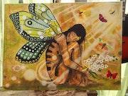 Femme papillon. Nolwenn Depin