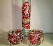 Flower pot & candlestick. Auric. Angel