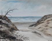 Entre deux dunes sur la côte d'opale.
