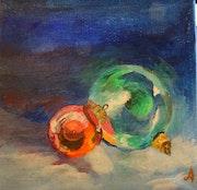 Mes boules de Noël. Janine Accotto