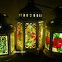 Stained Glass lanterns. Auric. Angel