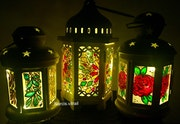 Stained Glass lanterns.