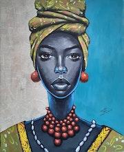 Sisay Teshome - African Lady, 2020. Transafrik Art Galerie