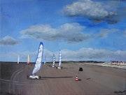 Chars à voile sur la plage de Merlimont Plage.