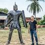 Roman warrior metal sculpture. Mari9Art