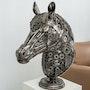 Metal horse head sculpture. Mari9Art