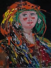 Femme berbère jour de fête.