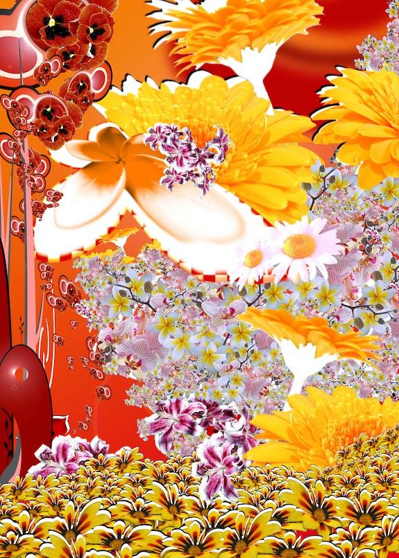 Blumen, digitale Kunst, Stuttgart im Jahr 2021. Stephan Rossmann Rossi Art