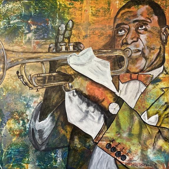 Louis Armstrong, amerikanischer Jazztrompeter, Sänger und Schauspieler. Herr Kossmann Herr Kossmann