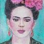 Frida kahlo portrait sur papier. Alarcon Dalvin