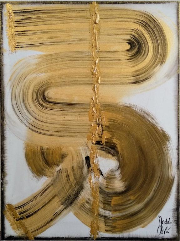 Rich gold. Nathalie Nadal-Olivié Peintre Abstrait Contemporain