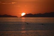 Puesta de sol en Baja California.