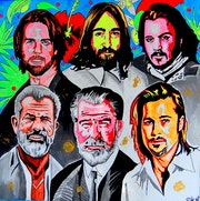 Apostles II. - Celebrity pop-art acrylic portrait - painting on canvas. Norbert Szük