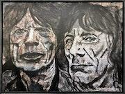 Mick Jagger, Ron Wood (Rolling Stones). Herr Kossmann