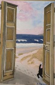 Porte ouverte sur la mer.